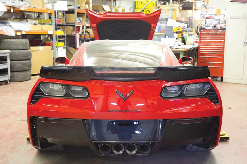 Callaway Corvette Red