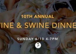 10th Annual Wine & Swine Dinner